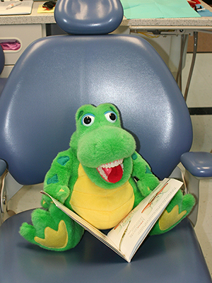 Alligator toy at North Shore Pediatric Dental and Orthodontics