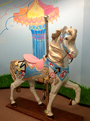 Merry go-round at North Shore Pediatric Dental and Orthodontics